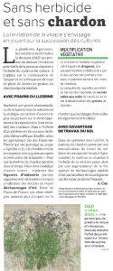 La France Agricole parle du projet «Agri-Bio»