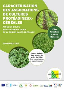 Associations de cultures protéagineux-céréales chez les agri. bio. de la région