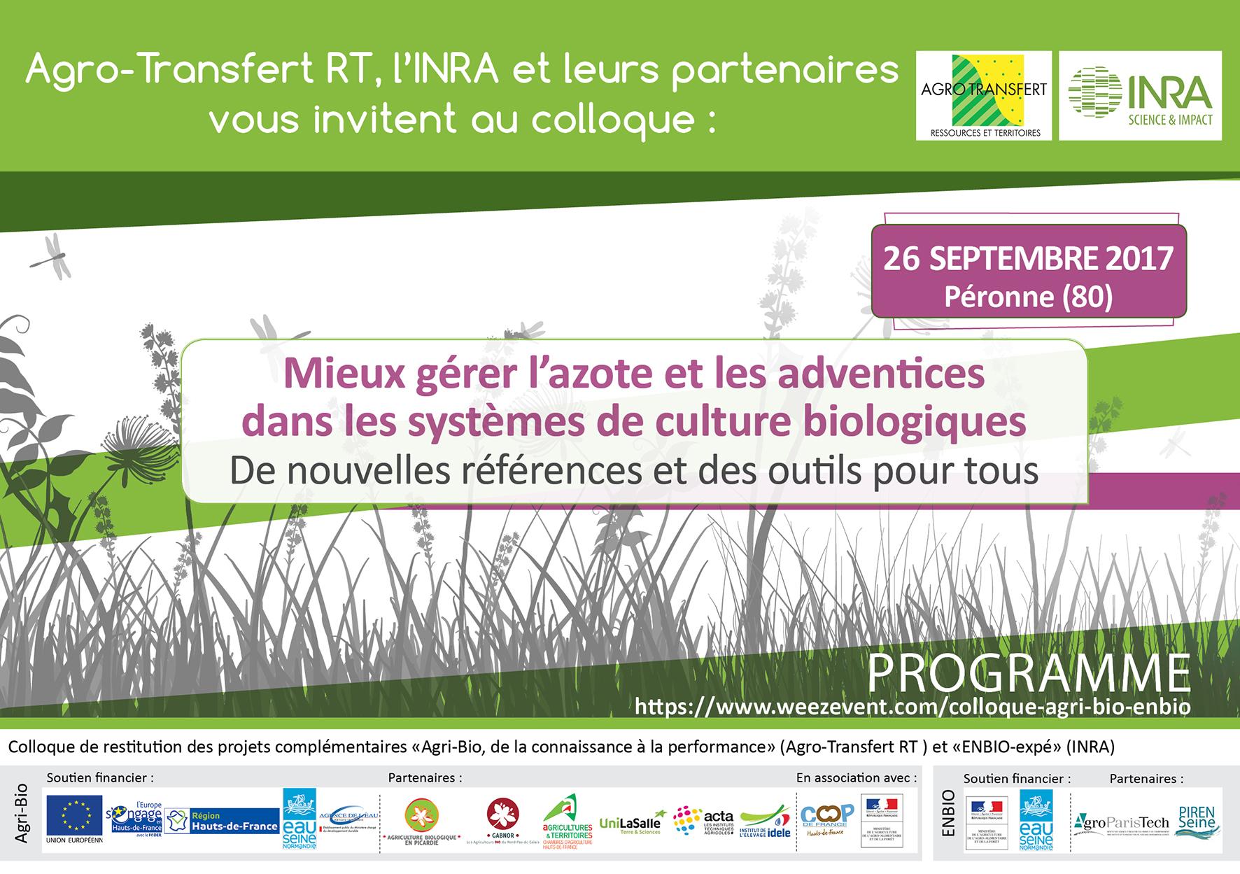 Programme colloque Enbio-Agri-Bio