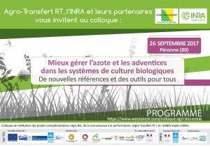 Colloque ENBIO – Agri-Bio Péronne le 26.09.17
