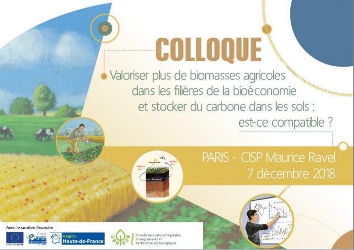 Colloque «Valoriser plus de biomasses agricoles dans les filières de la bioéconomie et stocker du carbone dans les sols : est-ce compatible ?»
