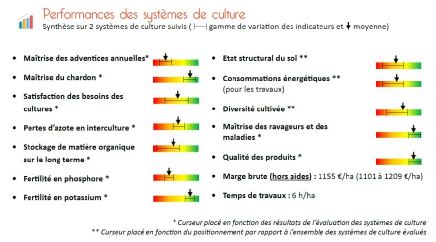 Performnaces des systèmes de polyculture sans luzerne